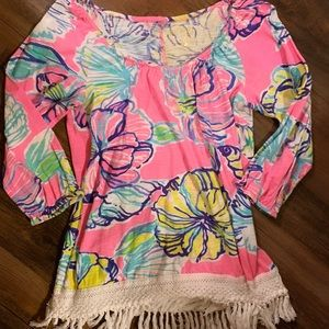 Lilly Pulitzer off shoulder top/tunic 💕
